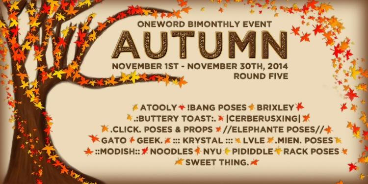 Oneword November 2014 Autumn Poster